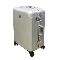 Міцна валіза на защіпках без блискавок середнього розміру 75 л Airtex срібляста