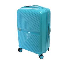 Пластикова валіза Airtex Jupiter, на 4 колесах, велика, 105 л, бірюзова