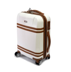 Красивый женский чемодан из поликарбоната малый Airtex 949 белый