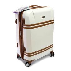 Пластиковый большой чемодан на 4 колесах Airtex Deimos 100 л белый