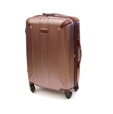 Средний 4-колесный чемодан из поликарбоната 56 л Airtex Diome бордовый