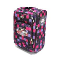 Малый дорожный чемодан на колесах из ткани Foxy Line горох