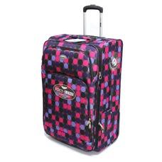 Большой чемодан, ткань Foxy-line, на 110 л, 2 колеса, горох