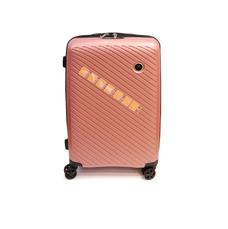 Малый чемодан пластиковый из полипропилена Madisson розовое золото