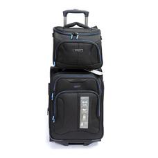 Набор малый чемодан с бьюти-кейсом Mvbags черный
