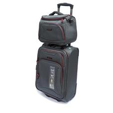 Набір мала валіза з б'юті-кейсом Mvbags сіра