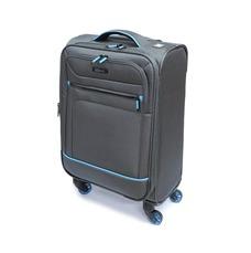 Практична мала щільна і міцна 4-колісна валіза, на 38 л Mv-bags сіра