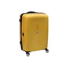 Чемодан на 4 х колесах Airetx из полипропилена большого размера желтый (Newstar 241)