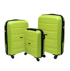 Набор полипропиленовых чемоданов Airtex (большой, средний, малый) салатовый Newstar 229