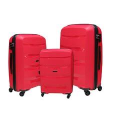 Набор полипропиленовых чемоданов Airtex (большой, средний, малый) красний Newstar 229