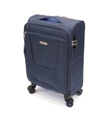 Чемодан на 4 колесах Airtex Nereide малого размера 55х35х20+5 см синий (825)