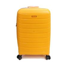 Валіза на 4 х колесах Snowball Robust 61303 з поліпропілену середнього розміру оранжева